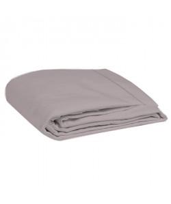 COTE DECO Drap plat 100% percale de coton  270x290 cm  Violet prune et lilas
