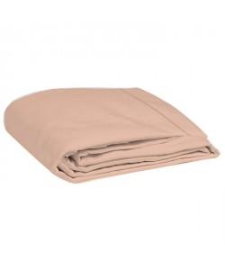 COTE DECO Drap plat 100% percale de coton  240x290 cm  Rose blush