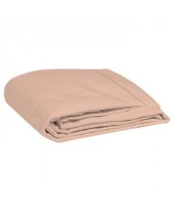 COTE DECO Drap plat 100% percale de coton  270x290 cm  Rose blush