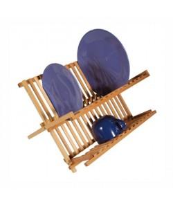 FRANDIS Egouttoir a vaisselle en bois pin massif 42x27,5x38cm marron