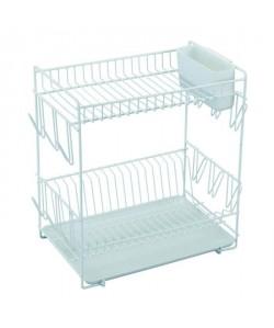 SAUVIC Égouttoir a vaisselle plastifié  Grand modele  Blanc