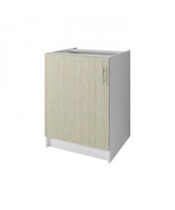 OBI Meuble bas de cuisine L 60 cm  Décor chene Monumental et blanc