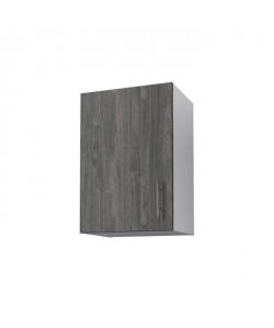 OBI Meuble haut de cuisine L 40 cm  Décor teck marine et blanc