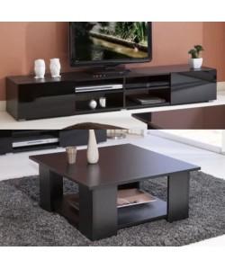 LIME Salon complet 2 pieces noir