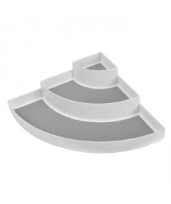 FRANDIS Etagere d\'angle 3 étages  L 30 x P 42 x H 9 cm