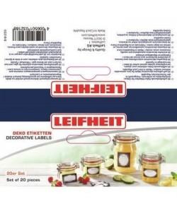 LEIFHEIT Etiquettes de decoration pour bocaux  Noir / blanc