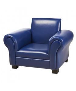 Fauteuil club enfant  Simili bleu  Contemporain  L 58 x P 43 cm
