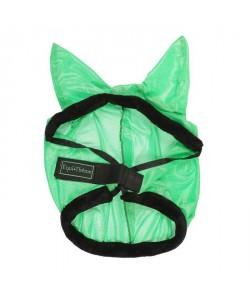 EQUITHeME Masque antimouches ?Éclat? Vert fluo  Taille L