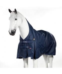 HORZE Masque antimouches pour chevaux Cayman  Taille XL  Bleu