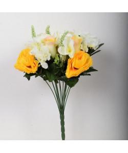 FLOW Bouquet de fleurs artificielles jaune  40 cm