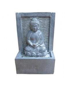 HOMEA Fontaine Bouddha 15x9,5xH23,5 cm gris