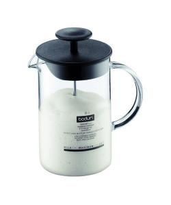 BODUM LATTEO Fouet a lait manuel avec anse en verre 0.25 l  Noir