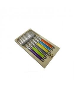 LAGUIOLE Lot de 6 fourchettes  Inox  Manche ABS couleurs trendy