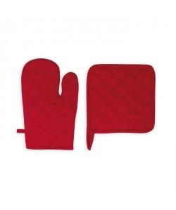 SOLEIL D\'OCRE Gant et manique Panama  15x20 cm / 20x20 cm  Rouge