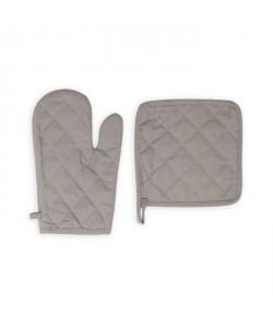 SOLEIL D\'OCRE Gant et manique Panama  15x20 cm / 20x20 cm  Gris