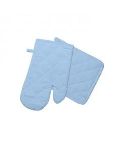 SOLEIL D\'OCRE Gant et manique Panama  15x20 cm / 20x20 cm  Bleu