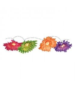 Guirlande de 10 lampes sur chaine lumineuse extérieur  1,5m  Fleur parasol et cylindre