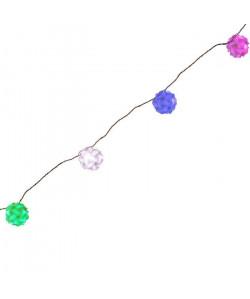 Guirlande LED 7 boules Origami  Bleu, blanc, vert, rose