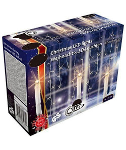 CHRISTMAS GIFT Guirlande LED Noël  240 ampoules  Blanc chaud
