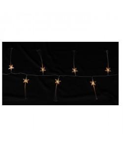 Guirlande de Noël lumineuse intérieure Étoiles Transparent L 1,35 m