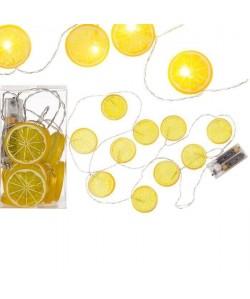 Guirlande lumineuse citron 10 LED  Blanc