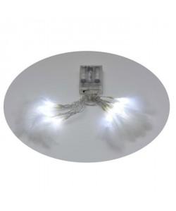 Guirlande de Noël lumineuse intérieure Plumes blanc L 40 cm
