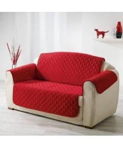 DOUCEUR d\'INTERIEUR Protege fauteuil matelassé Club 165x179 cm rouge