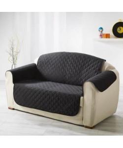 DOUCEUR d\'INTERIEUR Protege fauteuil matelassé Club 165x179 cm noir