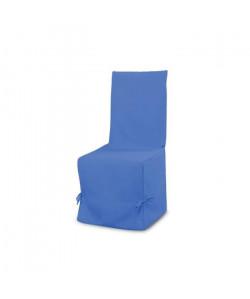 SOLEIL D\'OCRE Housse de chaise en coton Panama  Bleu