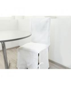 SOLEIL D\'OCRE Housse de chaise en coton Panama  Blanc