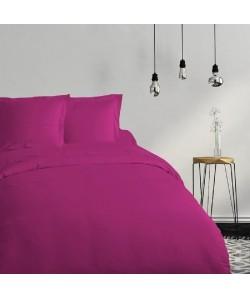 COTE DECO Housse de couette 100% coton 200x200 cm  Violet