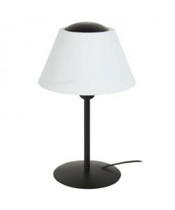 POLYCONE Lampe Tube, abatjour. Polypropilene, hauteur 35 cm, noir et blanc