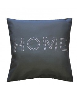 Housse de coussin  zip anthracite Home strass 40 cm