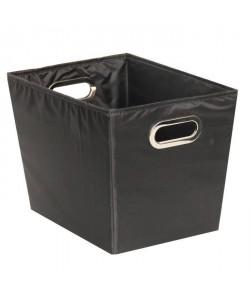 MHOME Cube rangement octogonale large noir