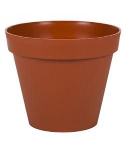 EDA PLASTIQUES Pot Toscane  Ř 25 x 20,6 cm  Orange potiron