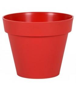 EDA Pot de fleur rond Toscane  Ř 30 x H 26 cm  10 L  Rouge rubis