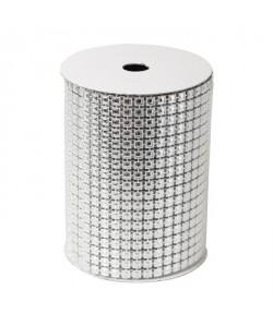 Rouleau de table maillé en PVC Argenté 200x10,5 cm