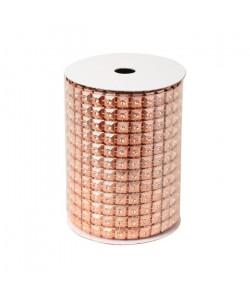 Rouleau de table maillé en PVC Doré  Rose 200x8 cm