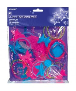 AMSCAN Jouets Glamour assortis  48 Pieces
