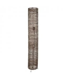 EXOTICO Lampadaire tressage fil chocolat cylindre  H 110cm  Ř 18 cm