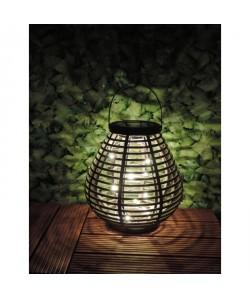 MUNDUS Lanterne solaire Rochas en plastique Ř21,4 x H21,6 cm  Gris