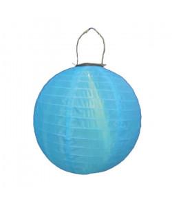 Lampion rond LED solaire avec hanse  Bleu