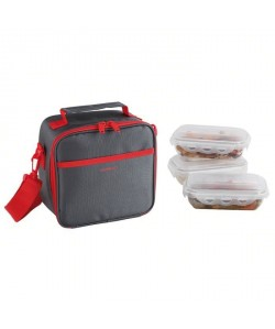 BE NOMAD SEP122R Set Sacoche Lunch box  Rouge