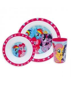 My Little Pony Ensemble lunch : Assiette  Verre  Bol