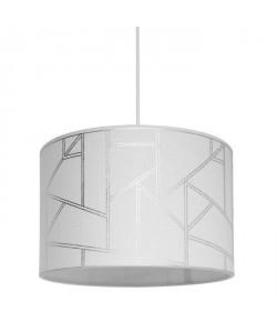 HAROLD Lustre  suspension motif irisé diametre 30 cm hauteur 20 cm E27 40W blanc