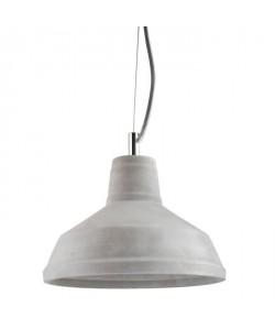 Lustre  suspension Kilian en béton diametre 25 cm hauteur 18 cm E14 40W gris