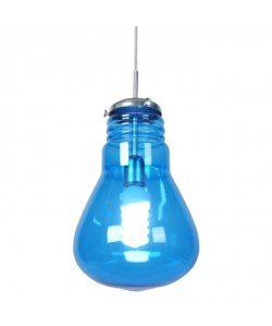 Lustre  suspension verre, forme ampoule traditionel