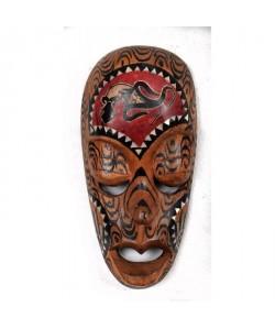 LOMBOK Masque bois 20 cm Marron
