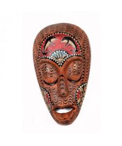 LOMBOK Masque bois 30 cm Marron