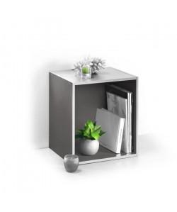 HOMEA Cube de rangement avec 1 niche 34,4x34,4x29,5 cm blanc